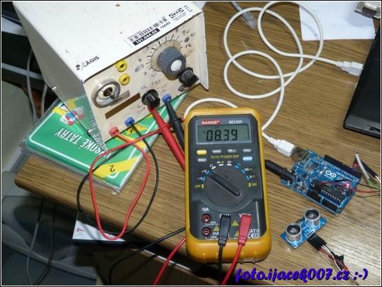 obrázek arduino měření vzdálenosti