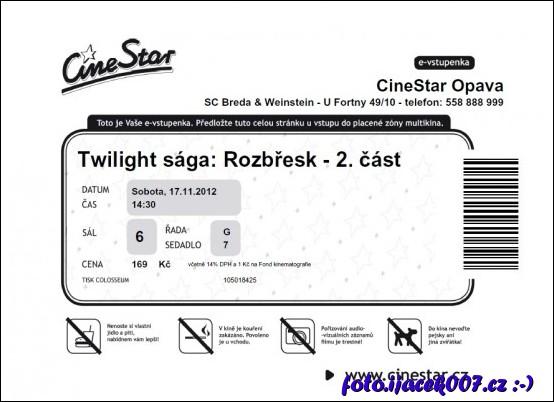f31abe17c Opavský Cinestar a koupě elektronické vstupenky | Blog o všem trochu ...