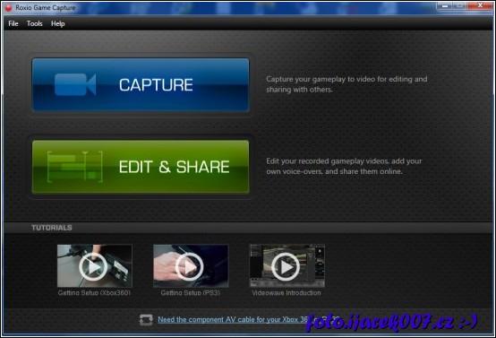 obrázek roxio game capture program