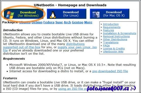 obrázek unetbootin.sourceforge.net