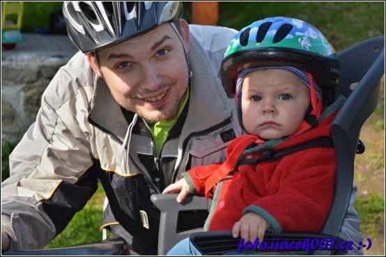 obrázek první posezení na kole