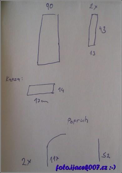 obrázek nákupní taška- schéma