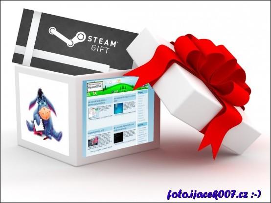 obrázek dárek steam
