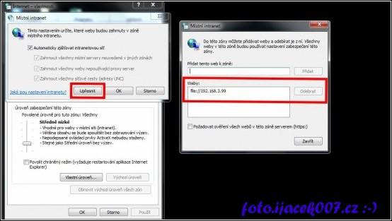 obrázek intranet přidání adresy