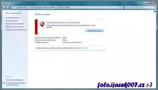obrázek Windows aktualizace