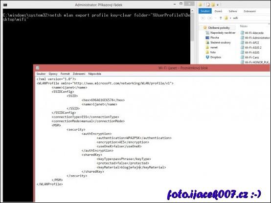 obrázek exportovaný profil na wi-fi