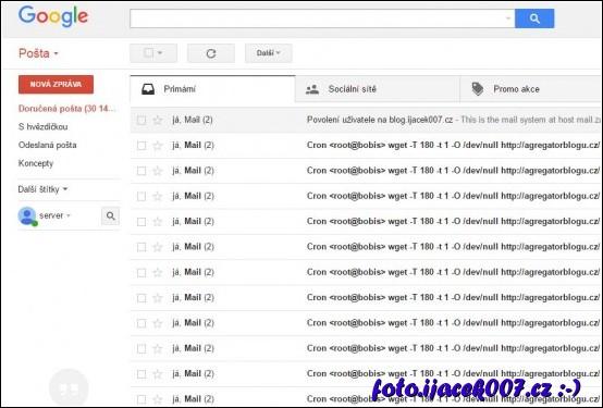 obrázek gmail 30 000 emailu s chybou