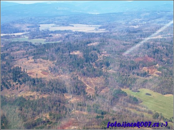 obrázek pohled na zbytky lesu