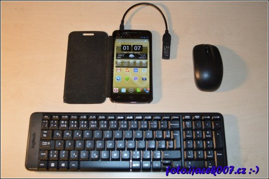 obrázek Android OTG bezdrátová klavesnice a myš
