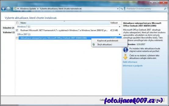 obrázek Windows update