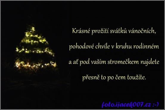obrázek přání k Vánocům
