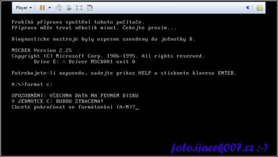 obrázek prostředí DOS