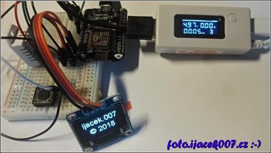 obrázek USB měřák měřící zátěž z modulu ESP8266
