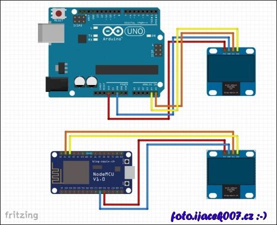 obrázek arduino esp8266 I2C lcd