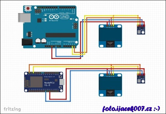 obrázek arduino esp8266 I2C lcd bmp180