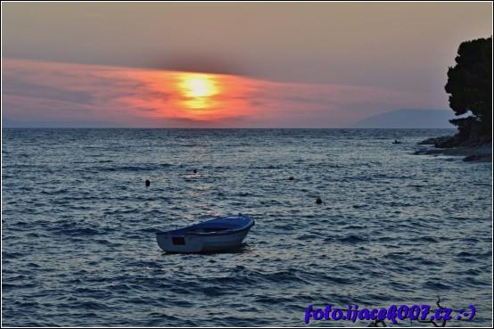 obrázek Západ slunce Malá Duba