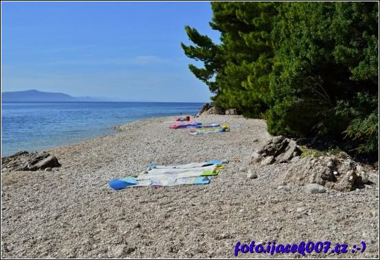 obrázek pláž  vesnice Malá Duba