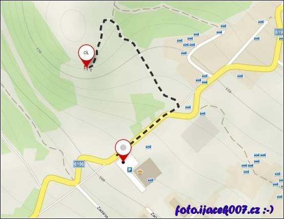 obrázek trasa ke křížum