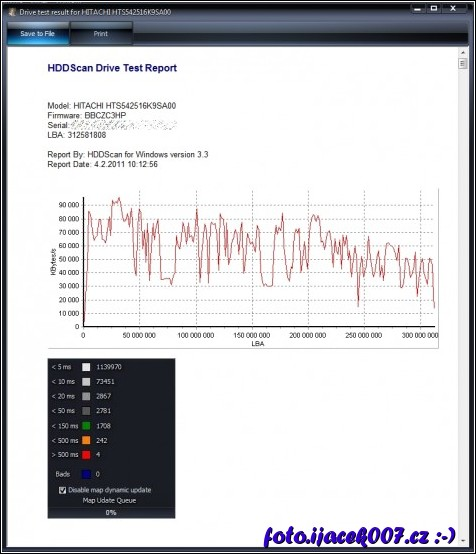 obrázek hdd scan report test